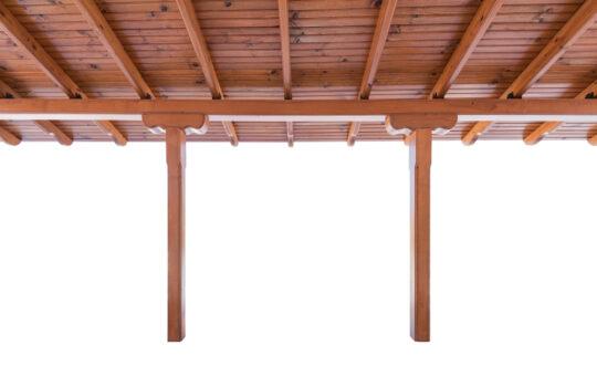 houten schuur inclusief luifel